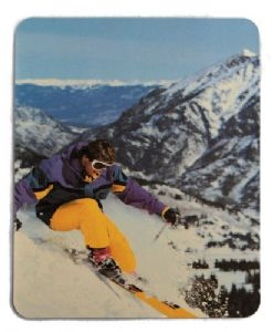 Mouse mat - Skier Picture - Free Postage